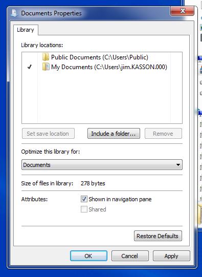 after manual addition of folder