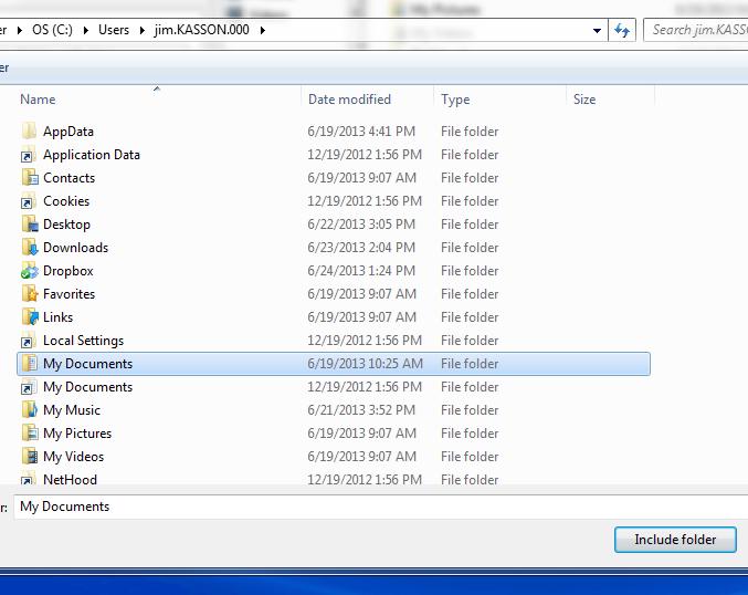 manually including a folder
