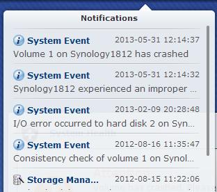 Synology 1812+ failure