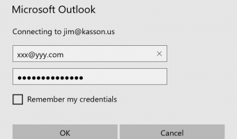 Outlook continually prompts for Exchange password